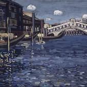Wassily Kandinsky (1866-1944): Erinnerung an Venedig 4 (Ponte Rialto), 1904, Centre Pompidou, Paris