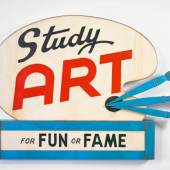 John Waters, Study Art Sign (For Fun or Fame), 2007 Courtesy the artist und Marianne Boesky Gallery, New York, © John Waters