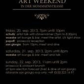 ART WEEKEND MOMMSENSTRASSE Flyer (c) Woeske Gallery