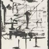 Peter Wechsler Ohne Titel, 2011 Pinsel, Tusche auf Bütten-Papier, 21,3 x 15 cm Kunsthaus Zürich, © 2016 ProLitteris, Zürich