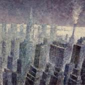 Heribert Mader (geb. 1937 in Steyr) New York Manhattan mit East River Öl-LW 2012 100x140c