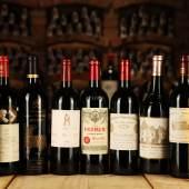 Parade von Bordeaux Weinen der Spitzenklasse, online zu ersteigern über das Dorotheum   Foto: Falstaff Verlag
