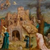 3021 JAN WELLENS DE COCK Die Versuchung des Heiligen Antonius. Öl auf Holz. 27,7 x 37,2 cm. CHF 120 000 / 180 000