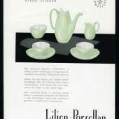 Lilien-Porzellan Werbeplakat zur Serie Corinna, 1961 © René Edenhofer