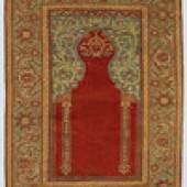 im Ghördes-Stil Transylvanian prayer ruf in Ghiordes design Westanatolien, um 1750 West Anatolia, ca. 1750 181 x 130 cm