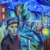 Karl Hauk (1898 – 1974) Nächtlicher Spaziergang, 1926 Öl auf Leinwand, monogrammiert und datiert HK 26 87 x 80 cm  Zur Verfügung gestellt von: Kunsthandel Widder