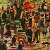 """Wilhelm Jaruska, 1916 - 2008  """"Frühlingserwachen"""" Mischtechnik auf Papier, signiert, datiert 1949, 29 x 37,5 cm Foto: © Kunsthandel Widder"""