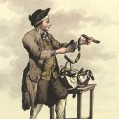 Salamiverkäufer, um 1780 Johann Christian Brand Kupferstich © Wien Museum