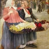"""""""Blumenmädchen"""", 1903 Josef Engelhart Gemälde © Wien Museum"""