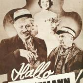 """""""Hallo Dienstmann!"""", 1952 Filmprogramm © Wien Museum"""