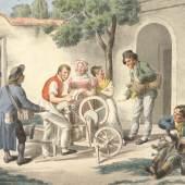 Scherenschleifer, um 1820 Josef Lanzedelli Lithografie © Wien Museum