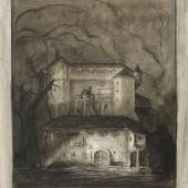 Alfred Kubin (1877 - 1959) Hodgepodge House. c. 1905/10. Watercolor and gouache, white heightening, pen and ink on paper. 39 x 31.6cm.  W & K - Wienerroither & Kohlbacher