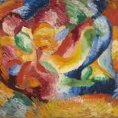 Wilhelm Morgner (1891 – 1917) Astrale Komposition VI | 1912 | Öl auf Malkarton | 74,5 x 100cm Ergebnis: 238.650 Euro