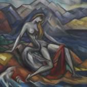 Wladimir Georgiewitsch von Bechtejeff Leda und der Schwan Öl auf Leinwand, 1912 165 x 136 cm Schätzpreis: € 300.000-400.000