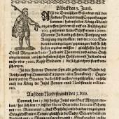 Wochentliche Ordinari Zeitung von 1629; Sammlung Deutsches Zeitungsmuseum