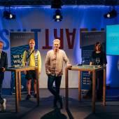 B.U. v.l.n.r.: Wolfram Kons, Kennet Lekko, Leon Löwentraut, Menja Stevenson, Dirk Geuer, Rechte by Daimler