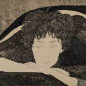 Titina Maselli (Rome 1924 - 2005 Rome) Woman Resting Her Head on Her Hands Pen and ink, brush and wash, and graphite on cream wove paper Gift of Mrs. R. Kirk Askew, Jr., 1983.40.2, Loeb Art Center, Vassar College. © 2020 Artists Rights Society (ARS), New York / SIAE, Rome