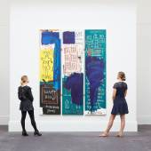 Works by Jean-Michel Basquiat and Keith Haring