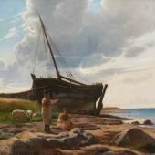 Niels Simonsen, Fischerort Ostsee, 1873, Öl auf Lwd., Foto SHMH, Elke Schneider