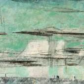 "Lyonel Feininger  ""Afterglow II""   1948  Öl auf Leinwand   43,5 x 61cm  Ergebnis: 396.500 Euro"