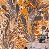 Nalan Yırtmaç Harem, 2011 Collage on marbled paper 45 x 30 cm Courtesy x-ist, İstanbul