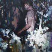 Yongchul Kim, Das ungläubige Licht 2018, Öl auf Leinwand, 100 x 80 cm