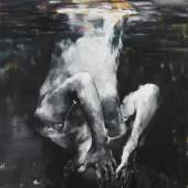 Yongchul Kim, Spiegelung 2018, Öl auf Leinwand, 100 x 70 cm