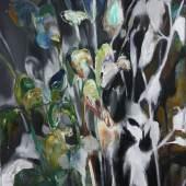 Yongchul Kim, Verbergen 2018, Öl auf Leinwand, 50 x 40 cm
