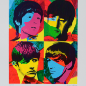 Young Beatles, Beautiful Magic, Serigrafie auf Bütten,2014. Ex.:89/100; 50&70 cm. 1.800 €