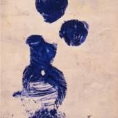 Yves Klein, Anthropometrie,  Abdruck / Kunstharzfarbe auf  Holzplatte, 1960/66, © Ulmer Museum, VBK Wien 2013