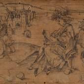 Albrecht Dürer (?) Der dichtende Terenz in einer Landschaft. Nicht bei Winkler-Dürer