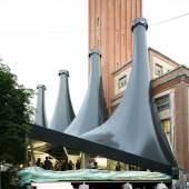 Annex of LISTE Architects: UNEND, Zurich; Membran Structure: HP Gasser AG, Lungern