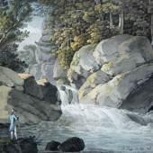 Adrian Zingg, Am Wasserfall, 1785 Dresden, Kupferstichkabinett, Adrian Zingg. Wegbereiter der Romantik 25. Mai - 12. August 2012