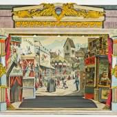 """Papiertheater-Sammlung Dr. Zwiauer  """"Zirkus ist in der Stadt"""", Ägyptischer Stil, Trentsensky-Verlag, Wien 1850 (c) Wikam"""