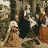 Hugo van der Goes - Die Anbetung der Könige (Monforte-Altar). Bildmaterial: www.kunstkopie.at