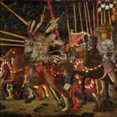 Paolo Uccello - Die Schlacht von San Romano. London, National Gallery. Bildnachweis: www.kunstkopie.de