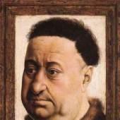 """Campin, Robert  Portrait eines fetten Mannes Altniederlaendische Malerei   Das Gemälde """"Portrait eines fetten Mannes"""" von Campin, Robert als hochwertige, handgemalte Ölgemälde-Replikation. Entstanden: 1430. Bildmaterial: www.oel-bild.de"""