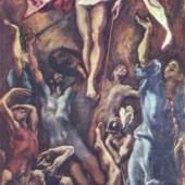 "Greco, El  Auferstehung Christi Renaissance   Das Gemälde ""Auferstehung Christi"" von Greco, El als hochwertige, handgemalte Ölgemälde-Replikation. Originalformat: 275 x 127 cm. Bildmaterial: www.oel-bild.de"