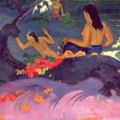 "Gauguin, Paul  Fatata Te Miti Impressionismus  Das Gemälde ""Fatata Te Miti"" von Paul Gauguin als hochwertige, handgemalte Ölgemälde-Replikation.  © www.oel-bild.de"