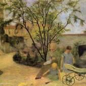 "Gauguin, Paul  Garten in der Rue Carcel Impressionismus  Das Gemälde ""Garten in der Rue Carcel"" von Paul Gauguin als hochwertige, handgemalte Ölgemälde-Replikation. © www.oel-bild.de"