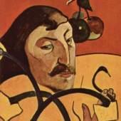 "Gauguin, Paul  Symbolistisches Selbstportraet Impressionismus  Das Gemälde ""Symbolistisches Selbstportraet"" von Paul Gauguin als hochwertige, handgemalte Ölgemälde-Replikation. © www.oel-bild.de"