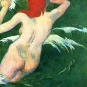 """Gauguin, Paul  Undine Impressionismus  Das Gemälde """"Undine"""" von Paul Gauguin als hochwertige, handgemalte Ölgemälde-Replikation. © www.oel-bild.de"""