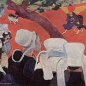 """Gauguin, Paul  Vision nach der Predigt Impressionismus  Das Gemälde """"Vision nach der Predigt"""" von Paul Gauguin als hochwertige, handgemalte Ölgemälde-Replikation. © www.oel-bild.de"""