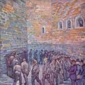 """Gogh, Vincent Willem van  Die Runde der Gefangenen Impressionismus   Das Gemälde """"Die Runde der Gefangenen"""" von Vincent Willem van Gogh als hochwertige, handgemalte Ölgemälde-Replikation. Originalformat: 80 x 64 cm www.oel-bild.de"""