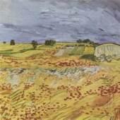 "Gogh, Vincent Willem van  Landschaft bei Auvers Impressionismus   Das Gemälde ""Landschaft bei Auvers"" von Vincent Willem van Gogh als hochwertige, handgemalte Ölgemälde-Replikation. Originalformat: 50 x 65 cm ©  www.oel-bild.de"
