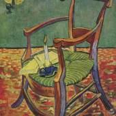 """Gogh, Vincent Willem van Paul Gauguins Stuhl (Der leere Stuhl) Impressionismus Das Gemälde """"Paul Gauguins Stuhl (Der leere Stuhl)"""" von Vincent Willem van Gogh als hochwertige, handgemalte Ölgemälde-Replikation. Quelle: www.oel-bild.de"""