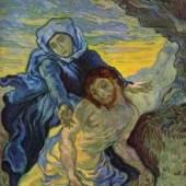 "Gogh, Vincent Willem van  Pieta (nach Delacroix) Impressionismus   Das Gemälde ""Pieta (nach Delacroix)"" von Vincent Willem van Gogh als hochwertige, handgemalte Ölgemälde-Replikation. Originalformat: 73 x 60,5 cm   ©  www.oel-bild.de"