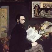 """(Cézanne Pauls Freund) Manet Edouard, Portraet des emile Zola. Das Gemälde """"Portraet des emile Zola"""" von Edouard Manet als hochwertige, handgemalte Ölgemälde-Replikation. Quelle: www.oel-bild.de"""