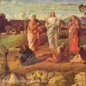 Bellini Giovanni; Alte Meister, Verklärung Christi um 1460 Quelle: www.oel-bild.de