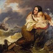DANHAUSER, Josef 1805 – 1845 Die Frau des Fischers am Meeresufer 1837 Auktionsergebnis: € 20.160,- VB